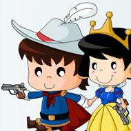 Prince and Princess Shoot Zombie